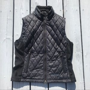 Marmot Vest y77600 quilted full zip inside pocket